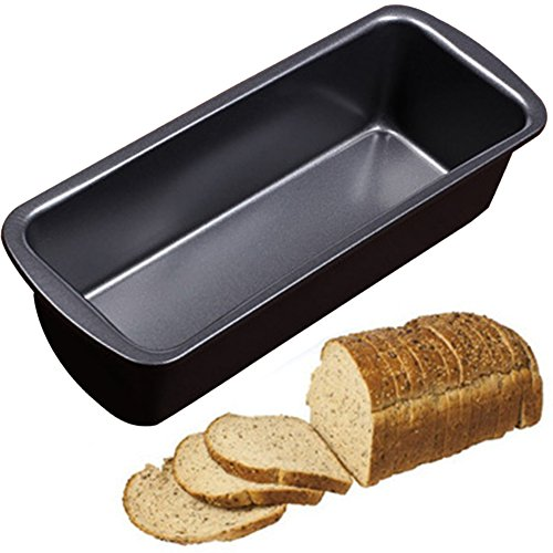 Non-Stick Long Bread Loaf Pan, 23.5x9.5x6cm Carbon Steel Bakeware Mold, Oven Tray Kitchen Fruit Baking Gadgets Cake Maker Mold Loaf Pan Bread Mould(black)