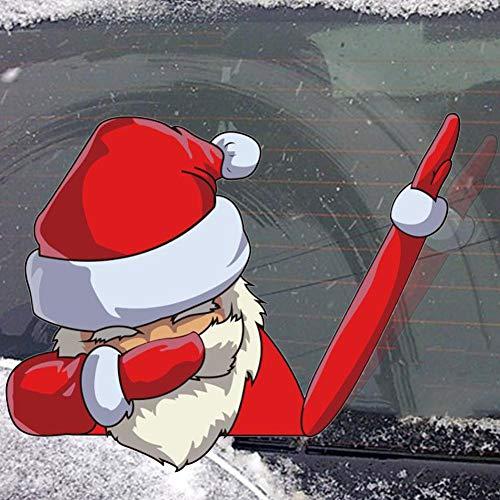 Corwar Weihnachts-Autoaufkleber Lustiger cooler Weihnachtsmann Heckscheibenaufkleber Heckscheibe und Scheibenwischer-Aufkleber reasonable