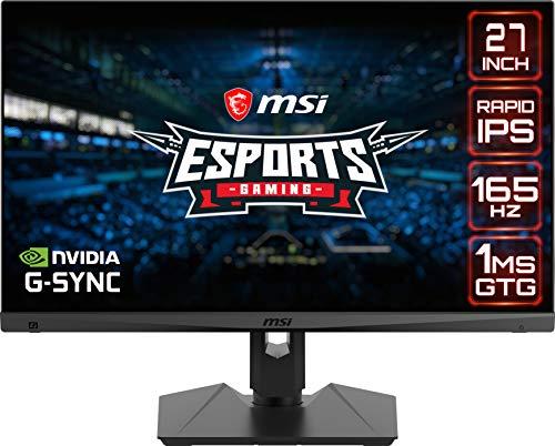 "MSI Optix MAG274QRF-QD Monitor Gaming 27"", Display 16:9 WQHD (2560x1440), Pannello Rapid IPS (Quantum Dot), Frequenza 165Hz, 1ms, compatibile G-Sync e AMD Freesync, HDR Ready, MSI Gaming OSD"