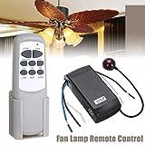 LNIMIKIY - Kit de Control Remoto para Ventilador de Techo, Mando a Distancia, Ventilador de Techo inalámbrico, transmisor y Receptor de lámpara Digital