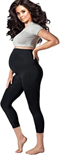Pregnology Women's Maternity Leggings Seamless over the Belly Compression with Pregnancy Support Stretch Band Breathable S...