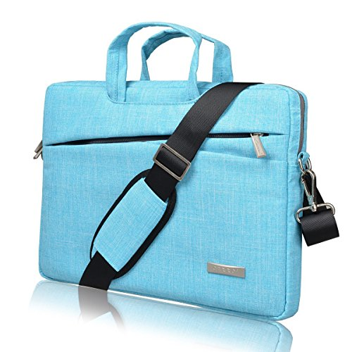 BingGoGo Laptop Bag 15.6 Inch Briefcase Shoulder Bags,Water Repellent Laptop Bag Briefcases Bussiness Carrying,Compatible Ultrabook MacBook 15.6 Inch Laptop Sleeves (15.6 Inch, Blue)