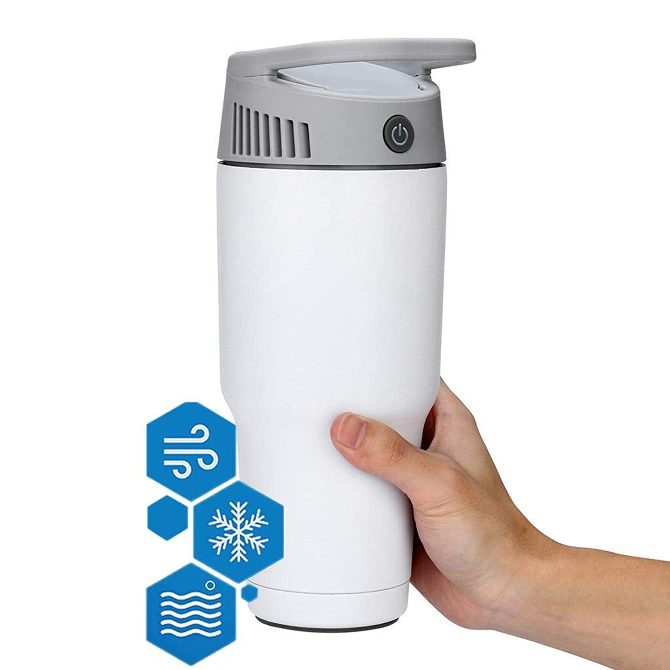 ZNQY Portable Aircon, Air Conditioner Cooler, 3 Speeds Office fits in Household Outdoors, Most Cup Holders, Backpacks, Desktop Cooling Fan for Office Household Outdoors