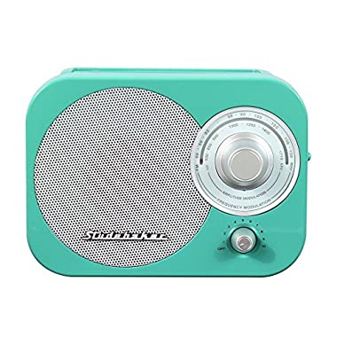 Portable Am Fm Radio, Teal Studebaker Small Player Speaker Portable Am-fm Radio