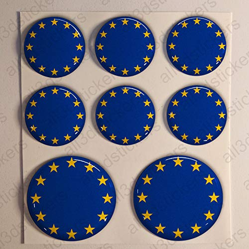 Pegatinas Escarapela Europa Redondas 8 x Pegatina Bandera Europa ...