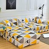DLILI Funsofá Estiraimpresa en Forma L Funsofá cojín 3 Asientos Muebles sofá Protector Mascotas Funlicra-3 plazas + 3 plazas-S