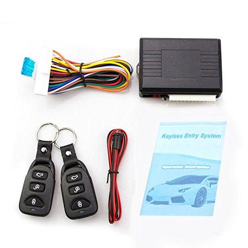 SODIAL Universalauto Alarmanlagen Auto Fernbedienung Zentralverriegelung Tuerschloss Keyless Entry System Zentralverriegelung mit Fernbedienung
