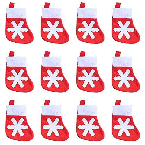 Sinto 12 Pz Natale tappi Posate Titolare Forchetta Cucchiaio Tasca Natale arredamento Borsa (B)