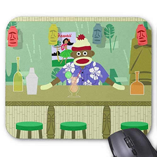 Gaming-Mauspad, Mauspads Sock Monkey Tiki Bar Mouse Pad 25 x 30cm for Notebooks,Desktop Computers