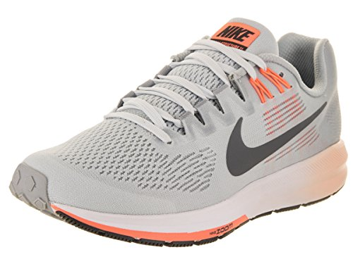 Nike Women's Air Zoom Structure 21 Running Shoe Wolf Grey/Dark Grey-Pure Platinum 7.5