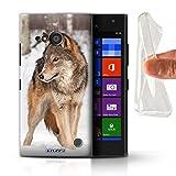 Hülle Für Nokia Lumia 730 Wilde Tiere Wolf Design