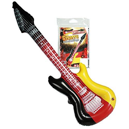 Preis am Stiel 2 x Aufblasbare Gitarre Deutschlandflagge | Fanartikel