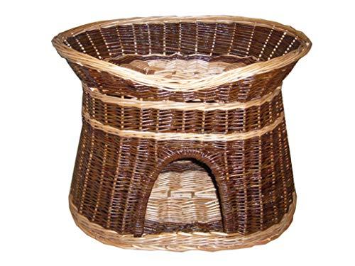 cuccia cane 2 piani Damian-Wiklina Cuccia per gatti o cani a due piani con cuccia e cuccia in vimini