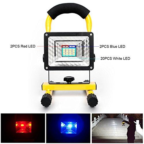 KEEDA Lumière d'inondation de Travail de LED, 30W 24 LED Projecteur d'urgence Rechargeable...