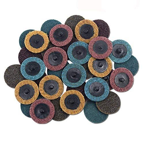 Haude - Disco mixto Roloc de 2 pulgadas (grano medio/fino), discos para el acondicionamiento superficial de cambio rápido, para amoladora, preparación para superficies esmeriladas, esmalte y acabados