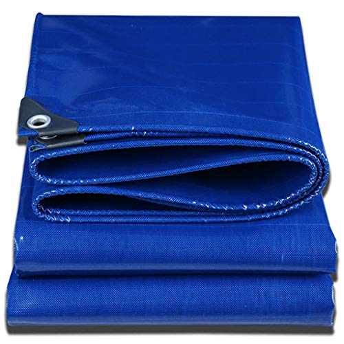 Blauwe zeildoek Heavy Duty Waterdichte Dubbele Laag PVC Outdoor Camping Zonnescherm Cover Waterdichte Luifel Tent Grond Vochtdicht Koud 500g / Vierkante Meter AI LI WEI Tarpaulin 5x6M