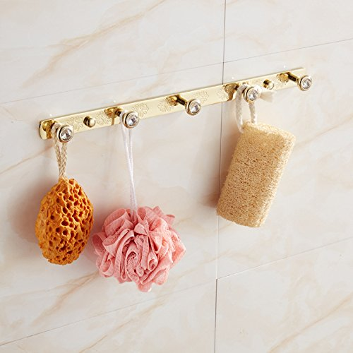 MBYW moderne minimalistische hoge dragende handdoek rek badkamer handdoekenrek Opslag plank Handdoek haak badkamer haak haak handdoek haak haak achter de deur Phoenix haak koper keukenhaak