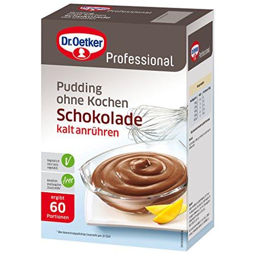 Dr. Oetker Professional Pudding ohne Kochen mit Schokoladen-Geschmack, Cremepulver in 1 kg Packung