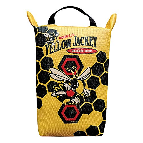 Morrell Yellow Jacket Weather Resistant Portable Final Shot Hunting Crossbow and Compound Bow Discharge Archery Bag Target with Carry Handle, Yellow
