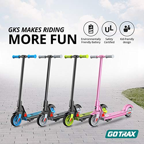 "GOTRAX GKS Electric Scooter for Kids - 10mph - 7.5 mi Range - 6"" Wheels (Black)"