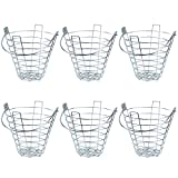 Crown Sporting Goods Steel Wire Golf Range Buckets: Metal Ball Carrying Practice Container with Handle - Holds 144 Balls (6-Pack)