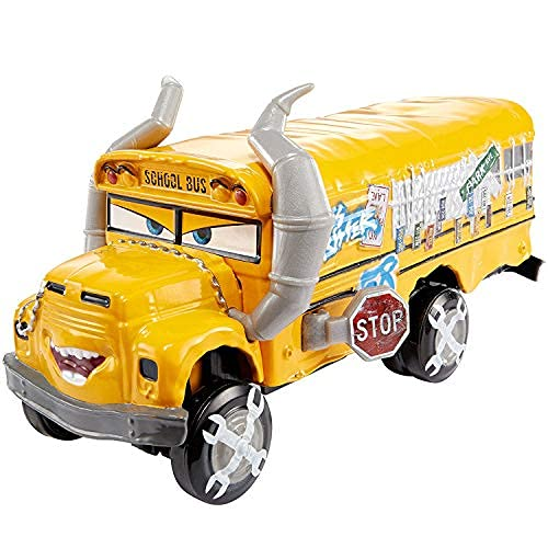 fashionmore Cars Movie Toys Thunder Hollow Crazy Eight Miss Fritter School Bus Cruz Ramirez Diecast Toy Car 1:55 Loose McQueen Toys Car (School Bus Ms Fritter)