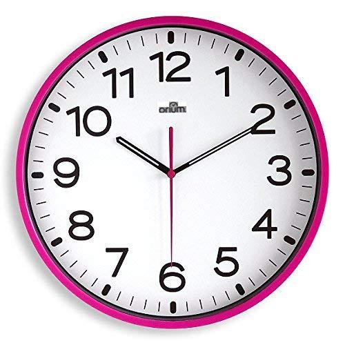 Orium 2116790241 - Reloj silencioso, 30 cm diámetro, color fucsia