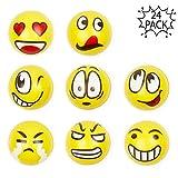 THE TWIDDLERS 24 Balles Anti-Stress Emoji Smiley | Soulager Le Stress Exercice des Doigts | Pinata Cadeaux Remplissage | Sac Cadeau Fêtes Bonbonniere | Anniversaire Halloween Petit Fete Sachets Jouet