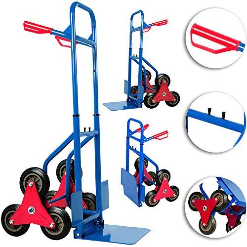 Deuba Carretilla de transporte con ruedas para escaleras carga máx 200 kg...