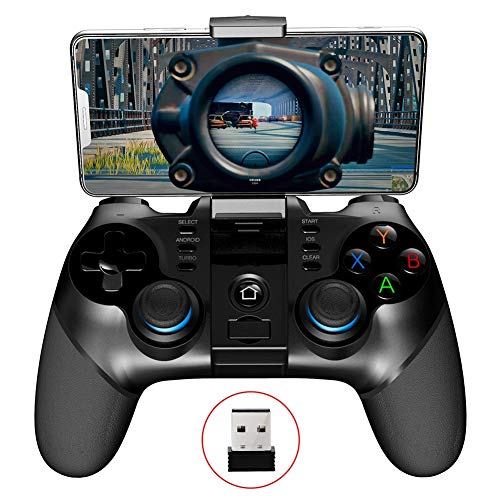 Zero starting point Movil Controlador Inalámbrico Gamepad, Digital Pocket Gamepad Box Controller, Juego Joysticks Inalambrico, Joystick para Compatible Android6.0/Ios11.0/PC,Lightblue