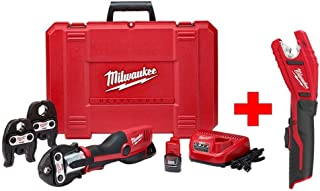 Milwaukee M12 12-Volt Lithium-Ion Force Logic Cordless Press Tool Kit with Free