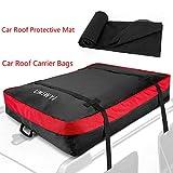 Sac de toit de sac de toit de voiture d'UMJWYJ: sac de toit de boîte de rangement de 10 pieds cubes pour le voyage, pour les longs voyages, les vacances et le transport de bagage