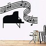 Adesivo da parete Adesivo da parete Tatuaggio Vinile Musica Spartiti pianoforte Spartito Musica murale 42X31 cm