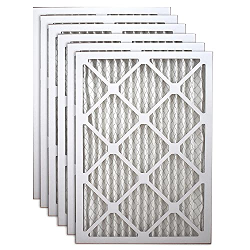 Filters Fast 10x16x1 Pleated Air Filter (6 Pack), Merv 11   1' AC Furnace Air Filters, Made in the USA   Actual Size: 9.75'x15.75'x 0.75'