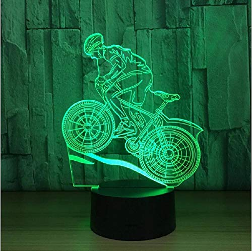 7 Colors Lamp USB 3D Led Lamp Mountain Bike 3D Night Lights Sleeping Lamp As Home Decoration New Year Gift for Friends