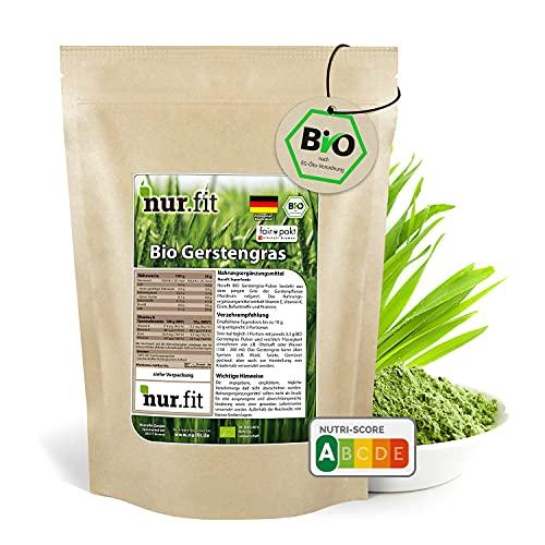 nur.fit by Nurafit BIO Green Trio Tabletten 250g / 1000 Stück – rein natürliche Presslinge aus Gerstengras, Chlorella und Spirulina – hochdosierte Greens Tabs in Rohkostqualität – vegan Superfood