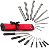 TuffMan Tools, Roll Pin Punch Set 9pc - Great for Gun Building and Removing Pins