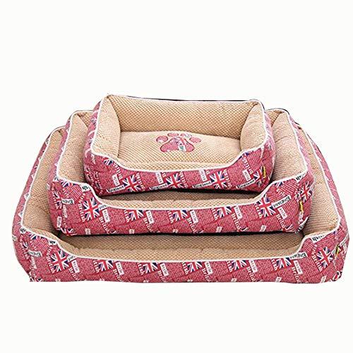 The Dog's Bed, Lit pour Chien General Four Seasons pour Petits Chiens de Moyenne et Grande Taille, matériau Respirant Ultra Doux pour Dormir, Se Reposer, Chat,Pink,M