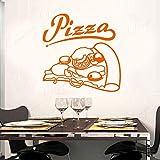 wZUN Pizza Italiana, Comida Caliente, Tienda de Pizza, Pegatinas de Vinilo para Pared, decoración del hogar, diseño, Mural de Restaurante, 63X63cm