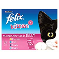 100% of your kitten's daily needs Our FELIX Kitten Mixed Selection Pack in Jelly contains all the necessary proteins and minerals your kitten needs. Our recipes help build strong muscles, bones and teeth. Developed with your kitten in mind to give th...