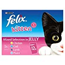 Felix Kitten Cat Food Mixed In Jelly 4 x 12 x 100g (48 Pouches)