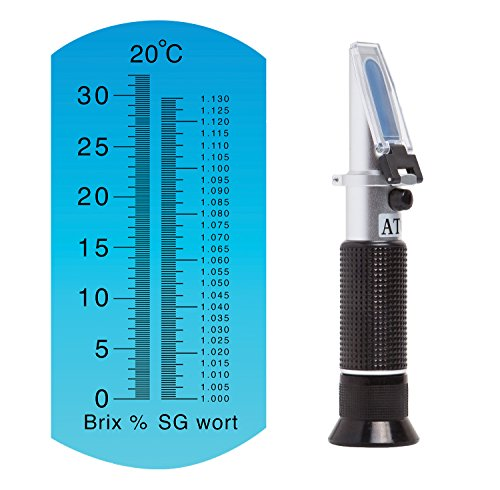 Brew Tapper Dual Scale Refractometer with ATC | Brix & Specific Gravity | Best for Beer & Wine