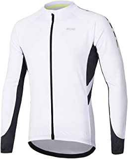 ARSUXEO Men's Full Zipper Long Sleeves Cycling Jersey Bicycle MTB Bike Shirt 6030