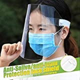 Face Shield, 2 Pack Anti Fog Face Shields Clear Plastic Protective Film for Men and Women