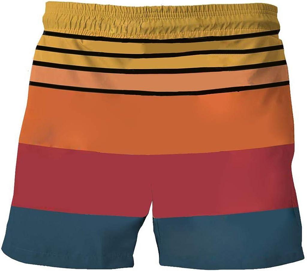 F_Gotal Men's Swimming Trunks Quick Dry Board Shorts Beach Shorts Cute Panda Printed Boxer Briefs Swimwear Bathing Suits