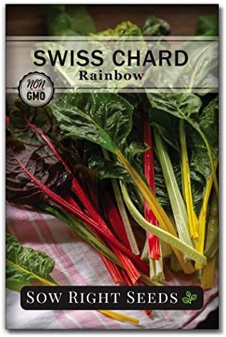 Sow Right Seeds Rainbow Swiss Chard Seed for Planting Non GMO Heirloom Packet with Instructions product image