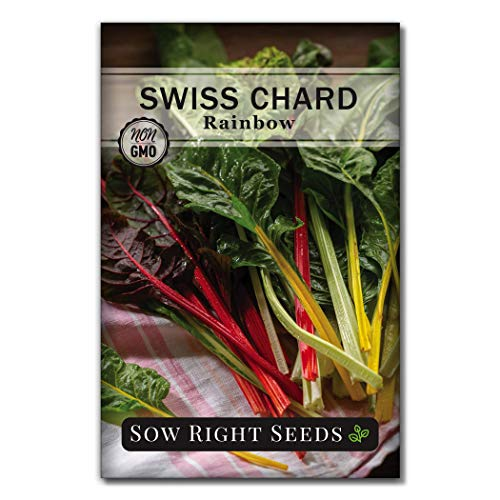 Sow Right Seeds - Rainbow Swiss Chard Seed for Planting - Non-GMO Heirloom