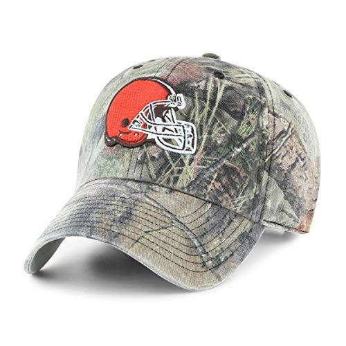 OTS NFL Cleveland Browns Men's Challenger Adjustable Hat, Mossy Oak, One Size Cleveland Browns Nfl Pattern
