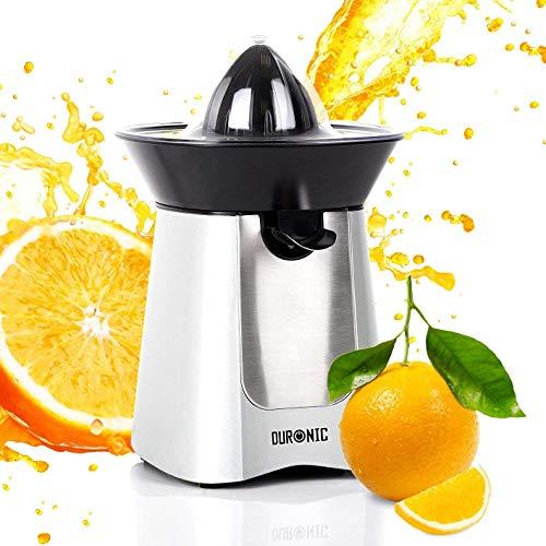 Duronic JE6 /SR Kompakter elektrischer Edelstahl-Entsafter/Zitruspresse/Orangenpresse/Saftpresse 100W - 2 Presskegel - Ideal für Zitrussäfte wie Orangen und Zitronen