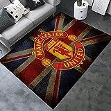 Lupovin F-19 área De Equipo De Fútbol Europeo F-Rugs Manchester United F.c. Theme Carpet V2 Creativo Faltante No Resbalón Salón Mat Fans Decoración para El Hogar Colección De Regalo De Moda